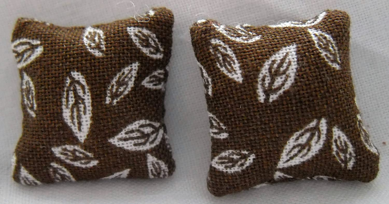 Autumn Leaves Print Cushions 1//24th Scale
