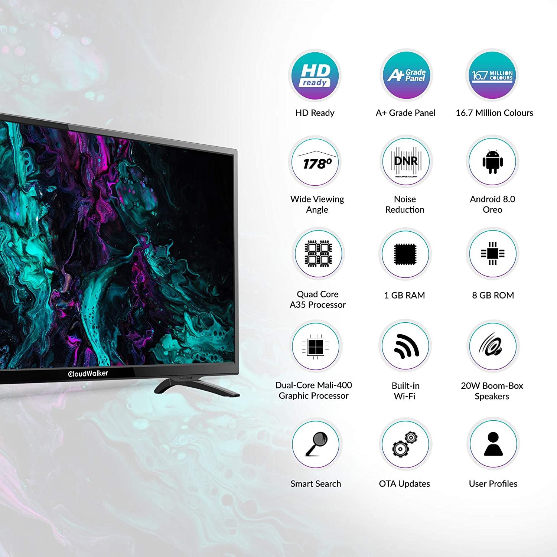 CloudWalker 80 cm (32 inches) HD Ready Smart LED TV