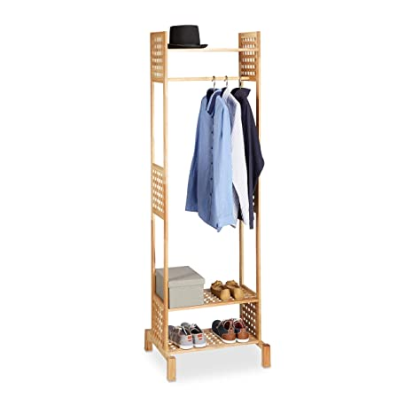 Amazon.com: Relaxdays Perchero de pie, no empotrado rack ...