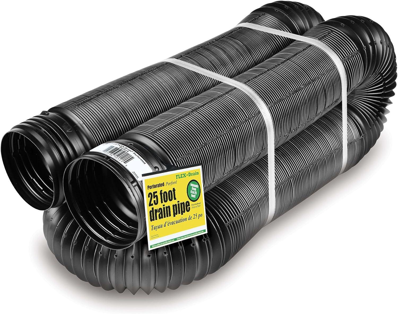 flex-drain 50910Flexible/ampliable paisajismo Tubo de drenaje, perforado