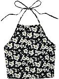 Romwe Women's Casual Tie Dye Sleeveless Vest Halter Cami Tank Top