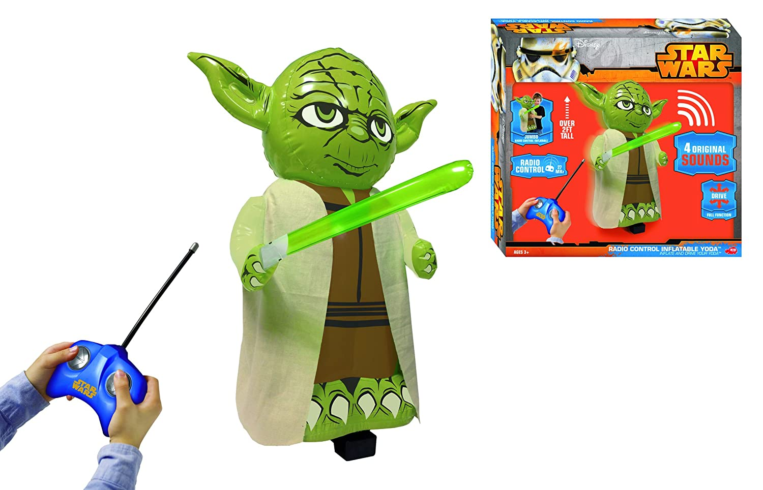 Dickie de Juguete 201126008 - RC Hinchable Star Wars Yoda: Amazon ...
