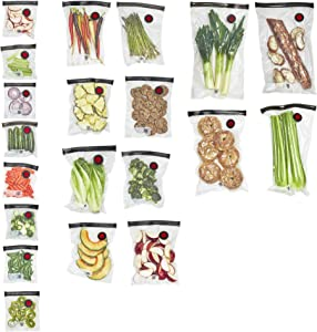 ZWILLING Fresh & Save Vacuum Sealer Bags for Food Set 20-pc - Assorted Sizes, Clear