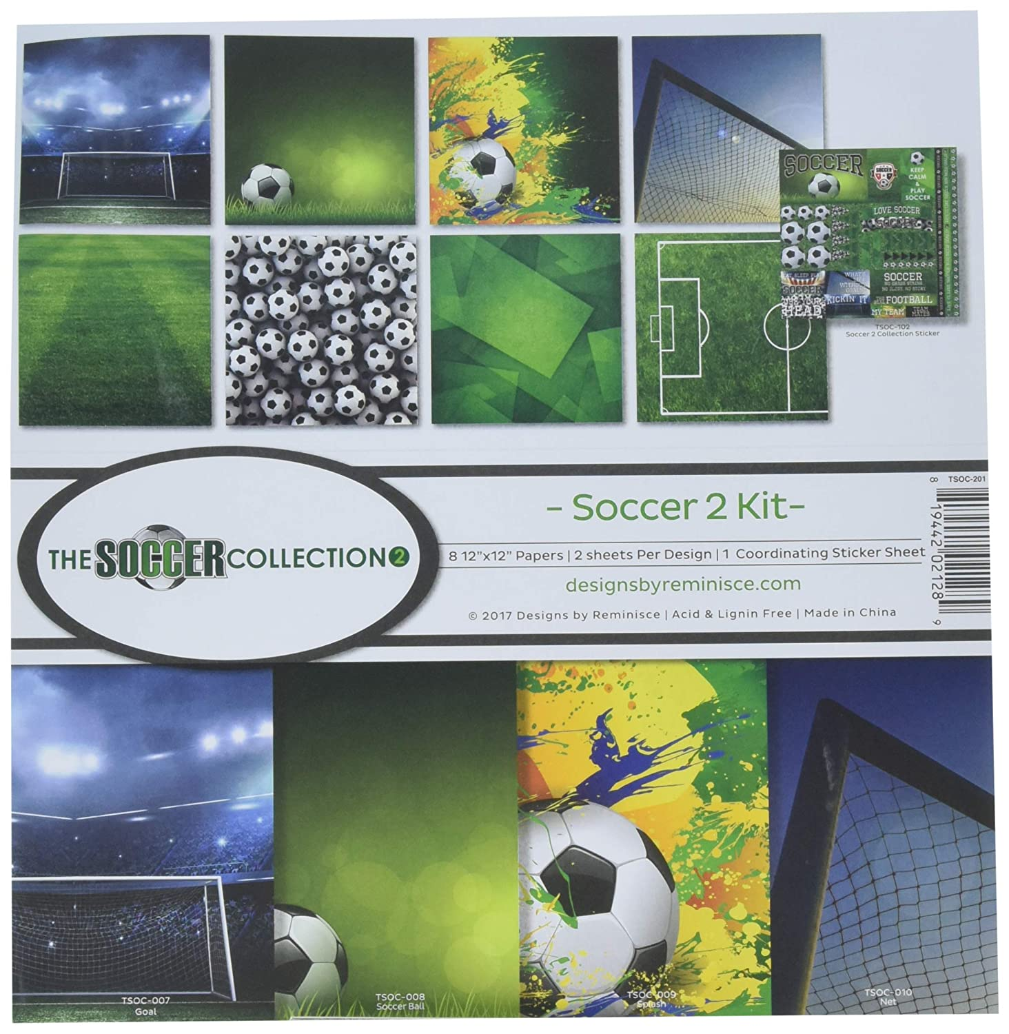 Reminisce The Soccer Collection 2 Scrapbook Kit TSOC-201
