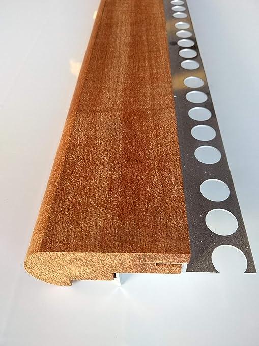 Mamperlán madera maciza Niagón para peldaño y escalera (Esquina ...