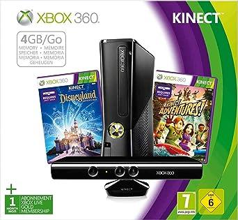 Console Xbox 360 4 Go + capteur Kinect + Disneyland Adventures ...