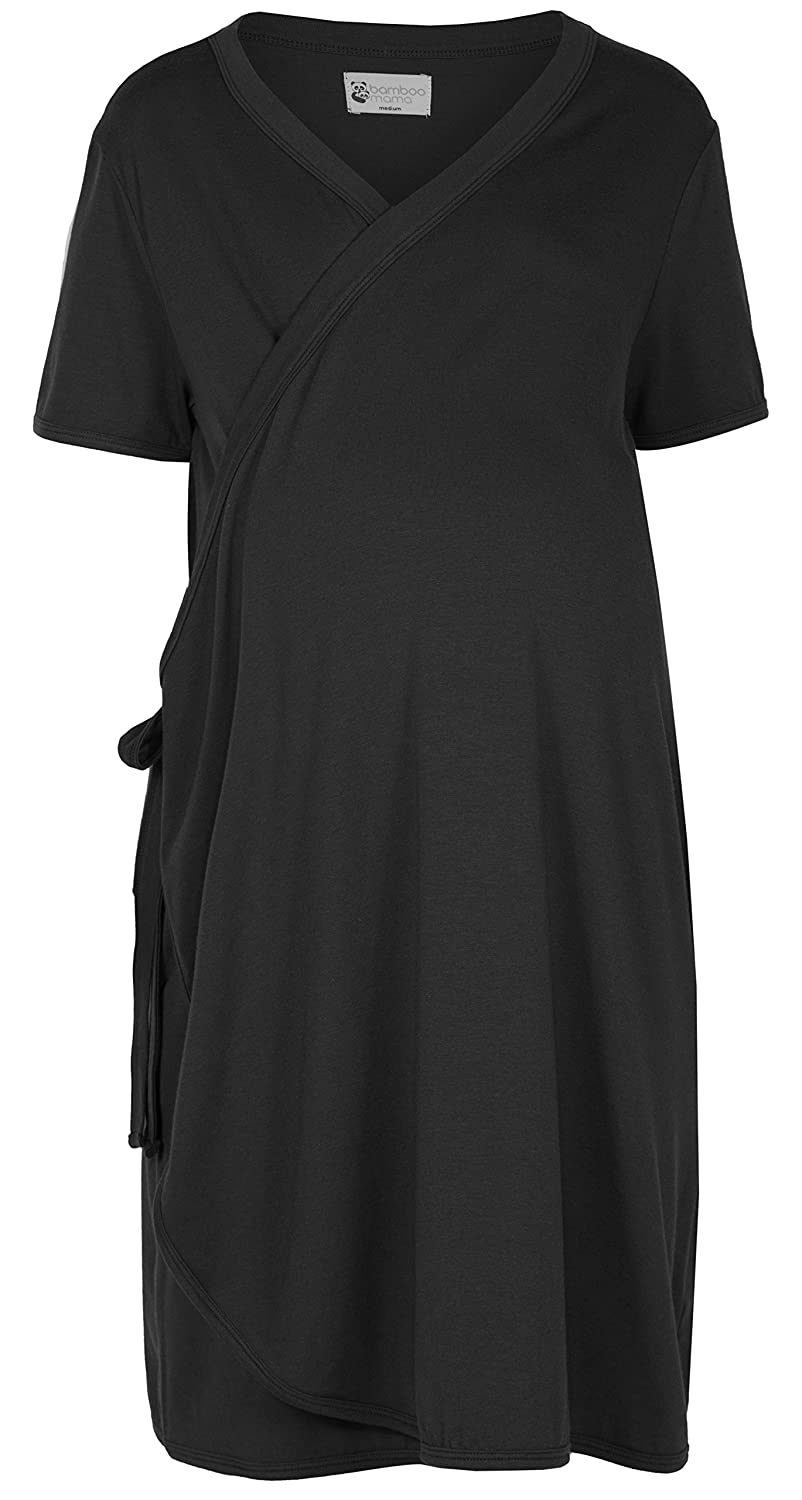 Labour /& Breastfeeding Pre-preg UK 6//8 - For Pregnancy Small The Bamboo Birthing Wrap Black