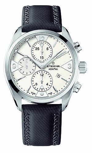 Eterna 1240.41.63.1184 - Reloj de Pulsera Hombre, Color Negro: Amazon.es: Relojes