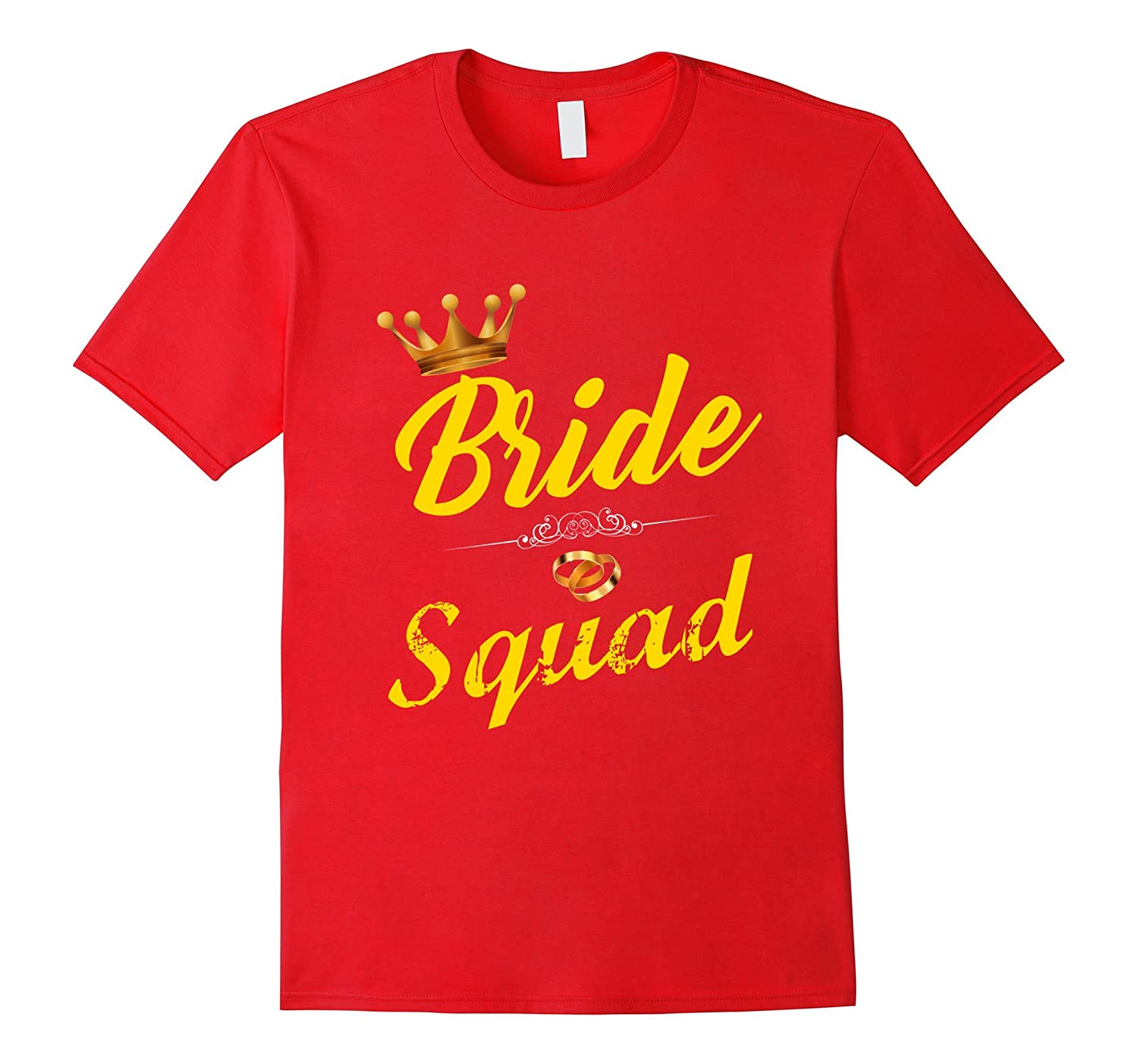 Bride Squad Bridal Party Wedding T-Shirt-Vaci