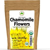 Chamomile Tea 1LB (16Oz) 100% CERTIFIED Organic (USDA seal) Chamomile Flowers Herbal Tea (Matricaria Chamomilla) in 1 lb…