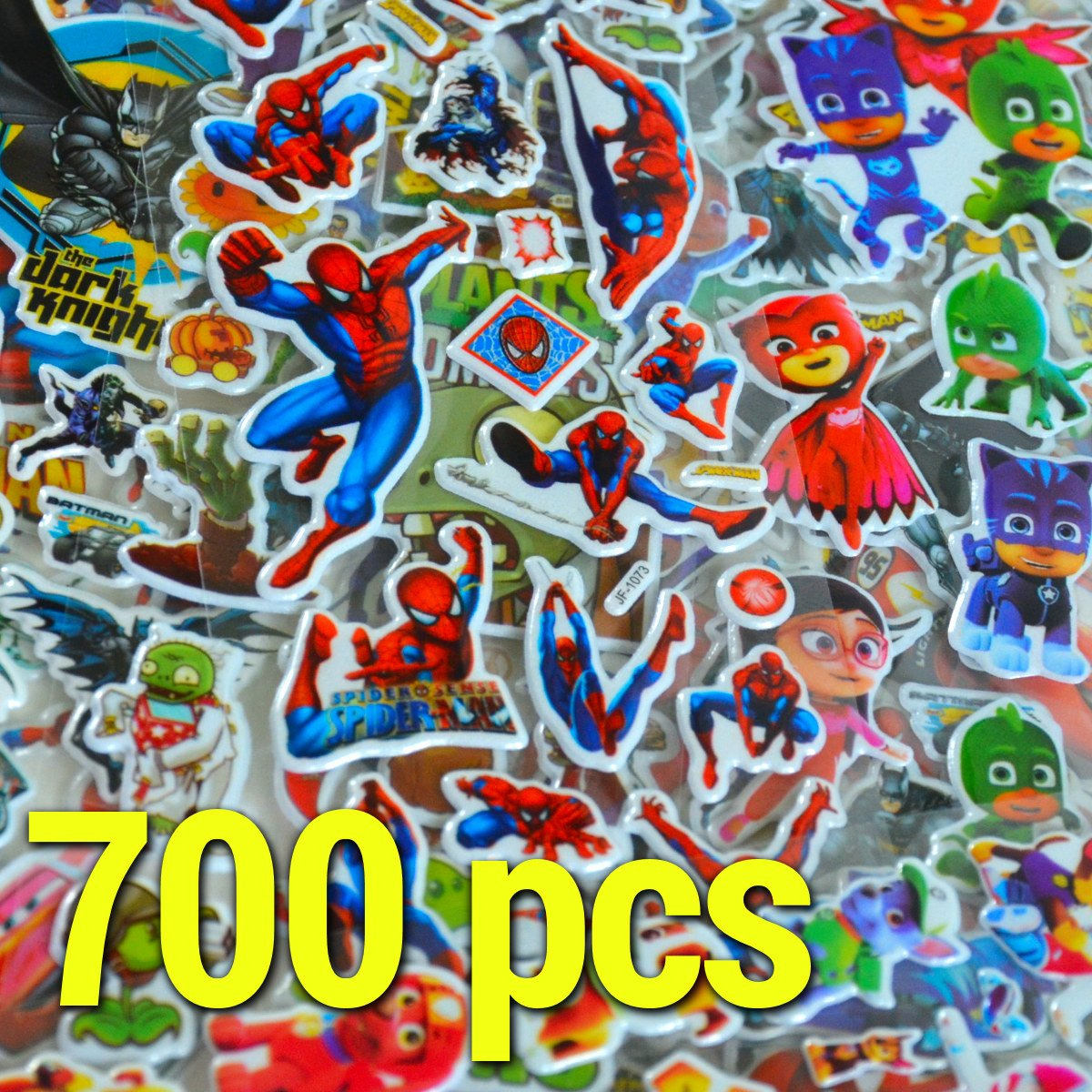¡Más de 700 pegatinas! 40 hojas Superhéroes 3D Conjunto de pegatinas Superhéroe: Paw Patrol, Spiderman, Batman, Superman, Cars, Turtles, Plants vs Zombies, Aviones King Mungo - KMST005 KingMungo