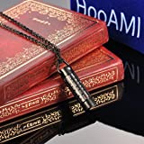 HooAMI Cremation Jewelry Black Bible Lords Prayer