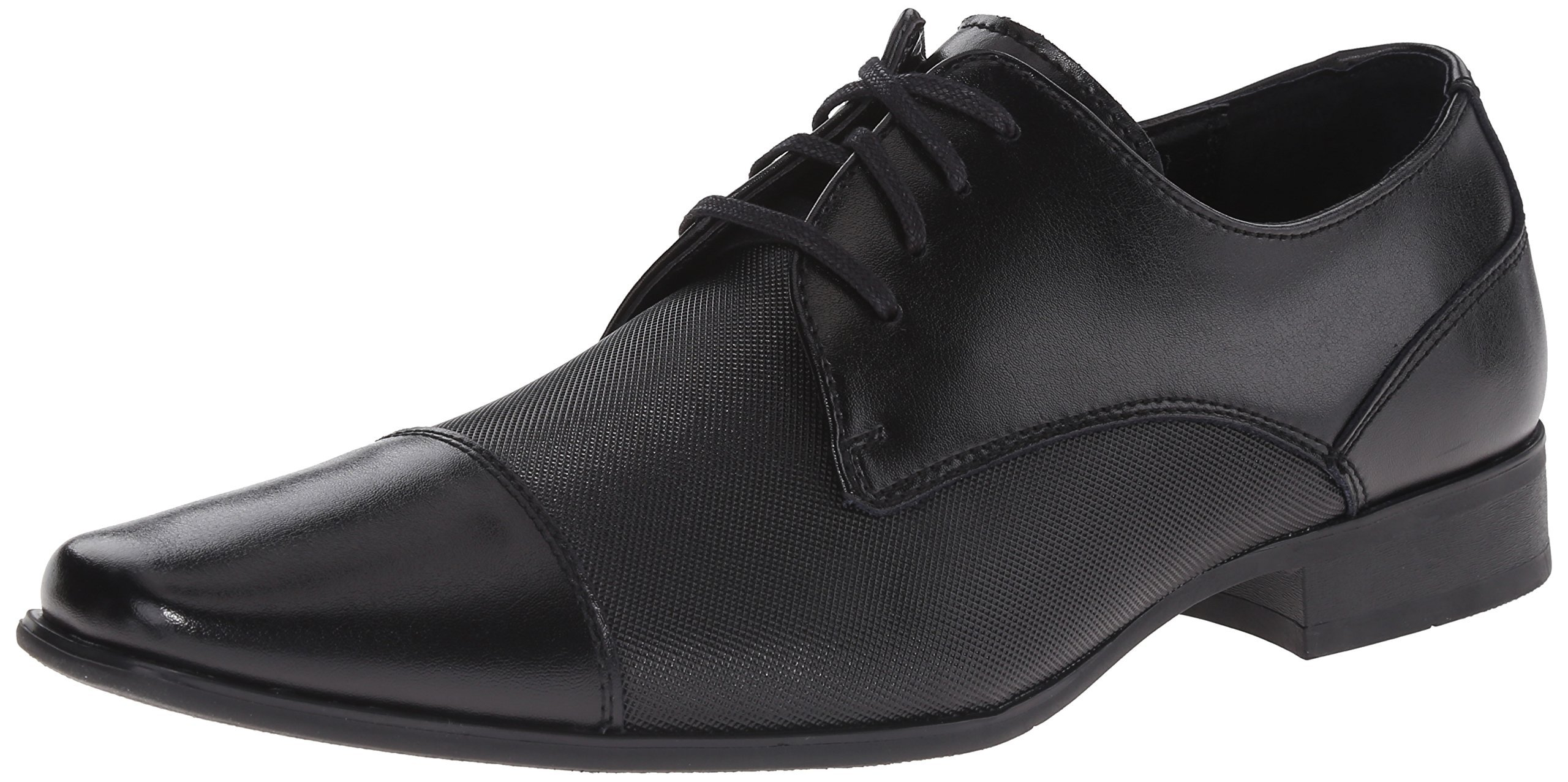 Calvin Klein Men's Bram Oxford, Black Diamond Leather, 7.5 M US