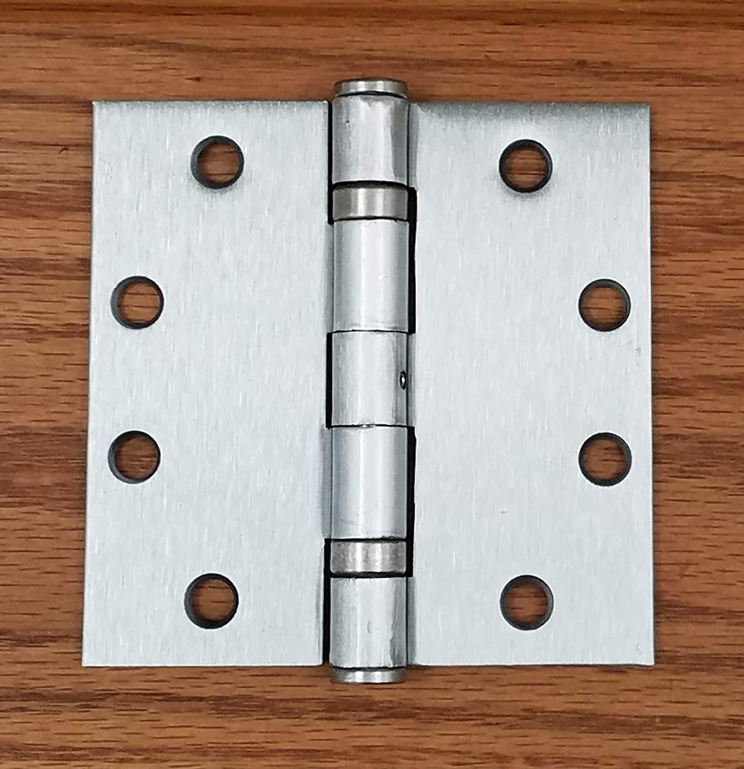Non-Removable Pin Hinge Outlet 4.5 Inch Square Satin Nickel Commercial Door Hinges Ball Bearing 2 Pack