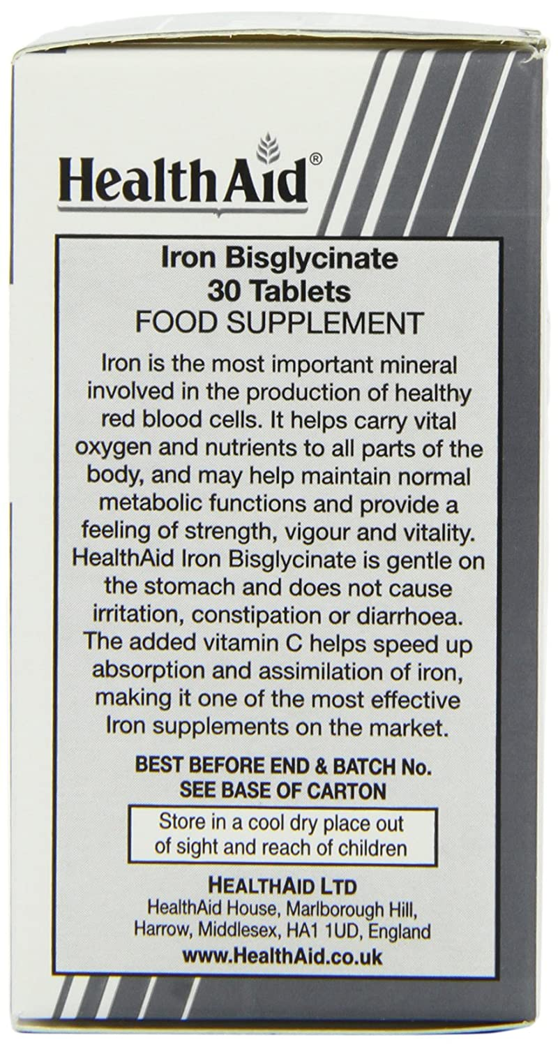 HealthAid Iron Bisglycinate 90 tablet: Amazon.es: Salud y cuidado personal