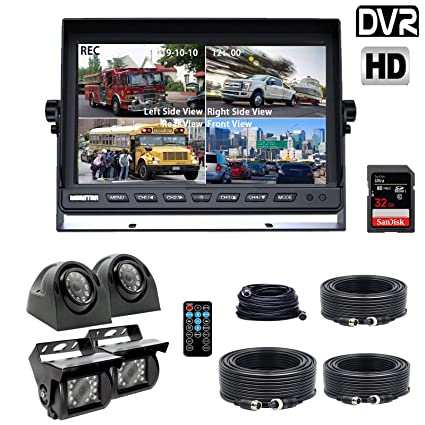 Amazon.com: DOUXURY Backup Camera System, 4 Split Screen 9 ...