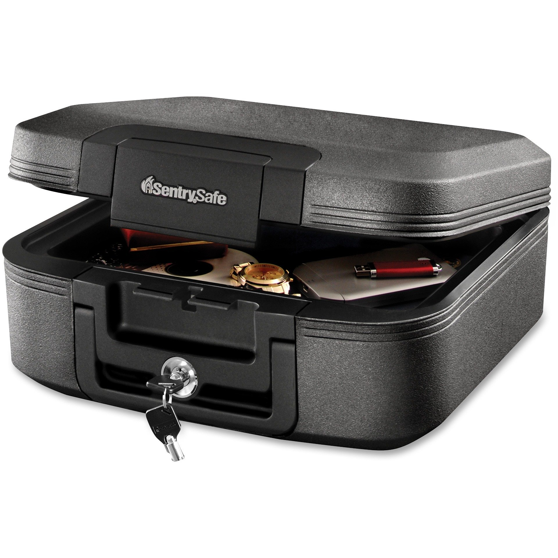 Sentry Safe CFW20201 Waterproof Fire-Resistant Medium Tubular Lock Chest, .28 cu. ft, 15 1/2 x 14 3/8 x 6 5/8-Inches, Charcoal Gray