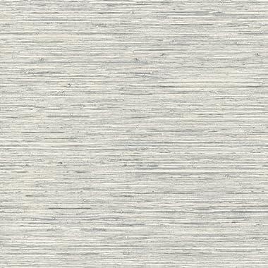 RoomMates Grasscloth Peel and Stick Wallpaper , Grey , 20.5  x 16.5 feet - RMK11078WP