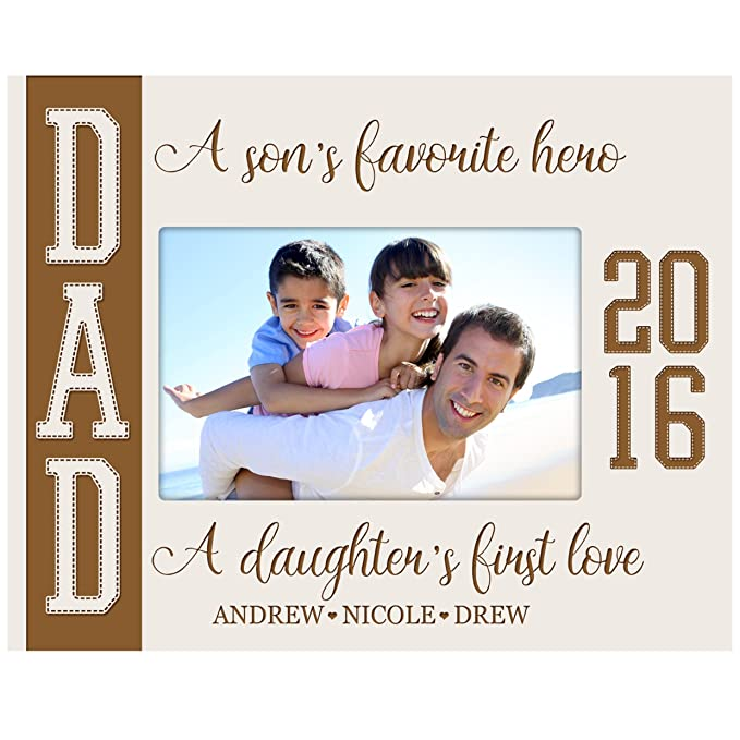 Amazon.com - Personalized Gifts for dad Engraved birthday gifts for dad Custom picture frame A sons Favorite Hero A daughters first Love (Black) -