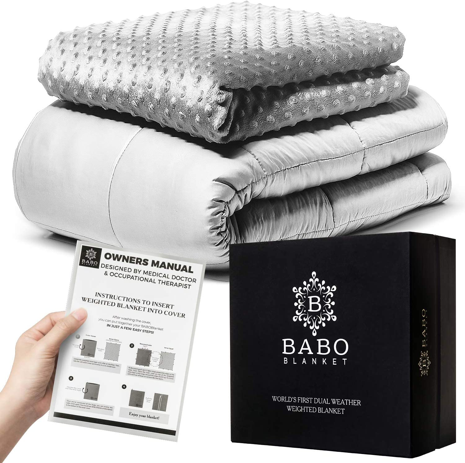 Mibio Cooling Weighted Blanket 15 lbs, 60x80 inch Queen Size, Cool Weighted Throw Anxiety Blanket, use as Heavy Blanket for Adults sleep blankets - 81LHYHiKHhL - Sleep blankets review – benefits of sleeping with weighted blankets