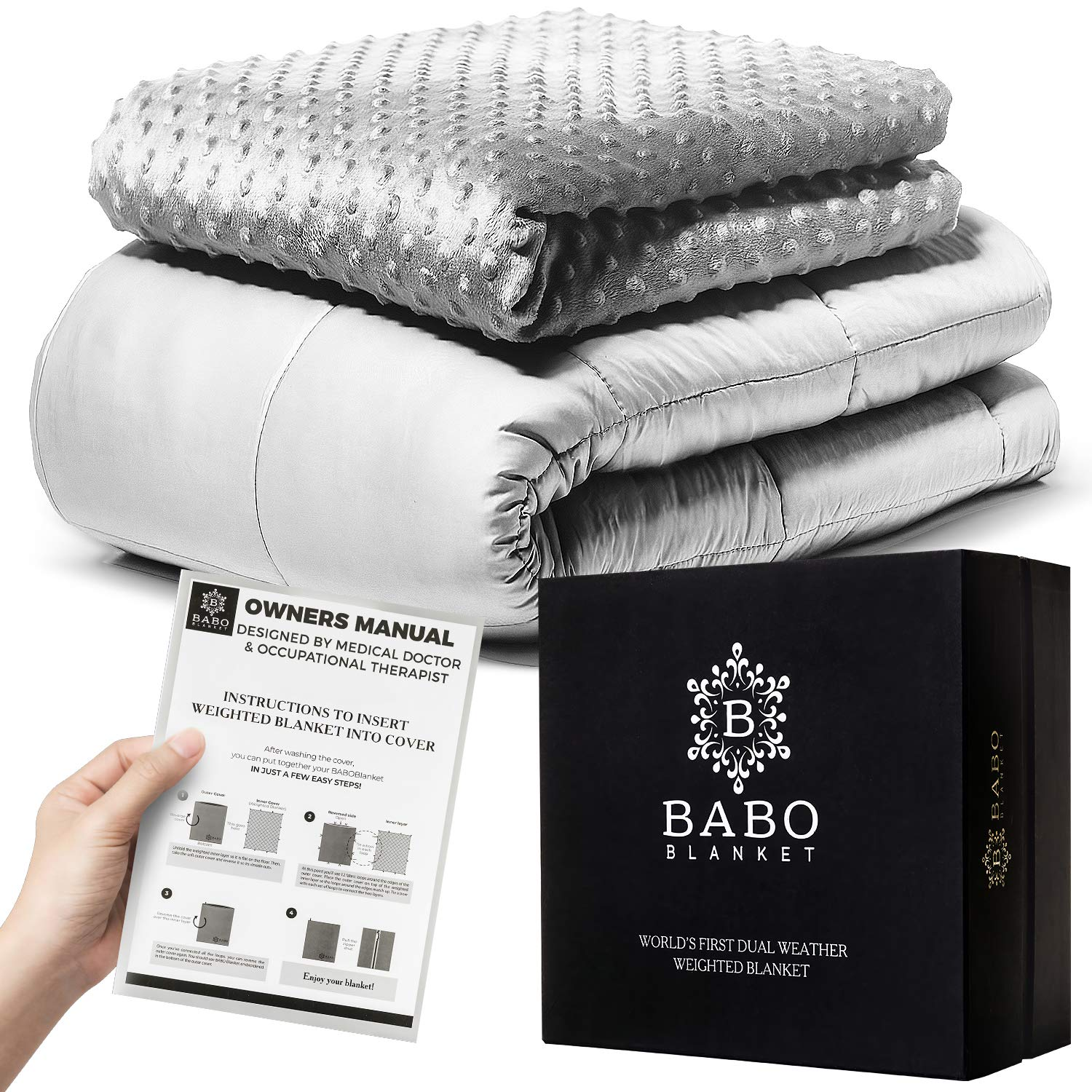 Mibio Cooling Weighted Blanket 15 lbs, 60x80 inch Queen Size, Cool Weighted Throw Anxiety Blanket, use as Heavy Blanket for Adults sleep blankets Sleep blankets review – benefits of sleeping with weighted blankets 81LHYHiKHhL