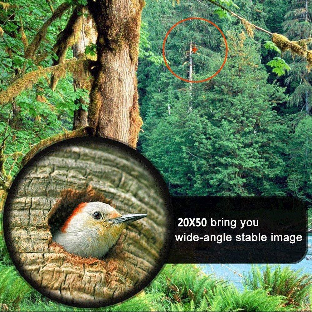 20X50 Prism/áticos 20x50 Isend Prism/áticos Compacto Binoculares Prism/áticos Ideales para Observaci/ón de Aves Acampada Conciertos Caza /ópera Deportes Tur/ísticasVisita etc