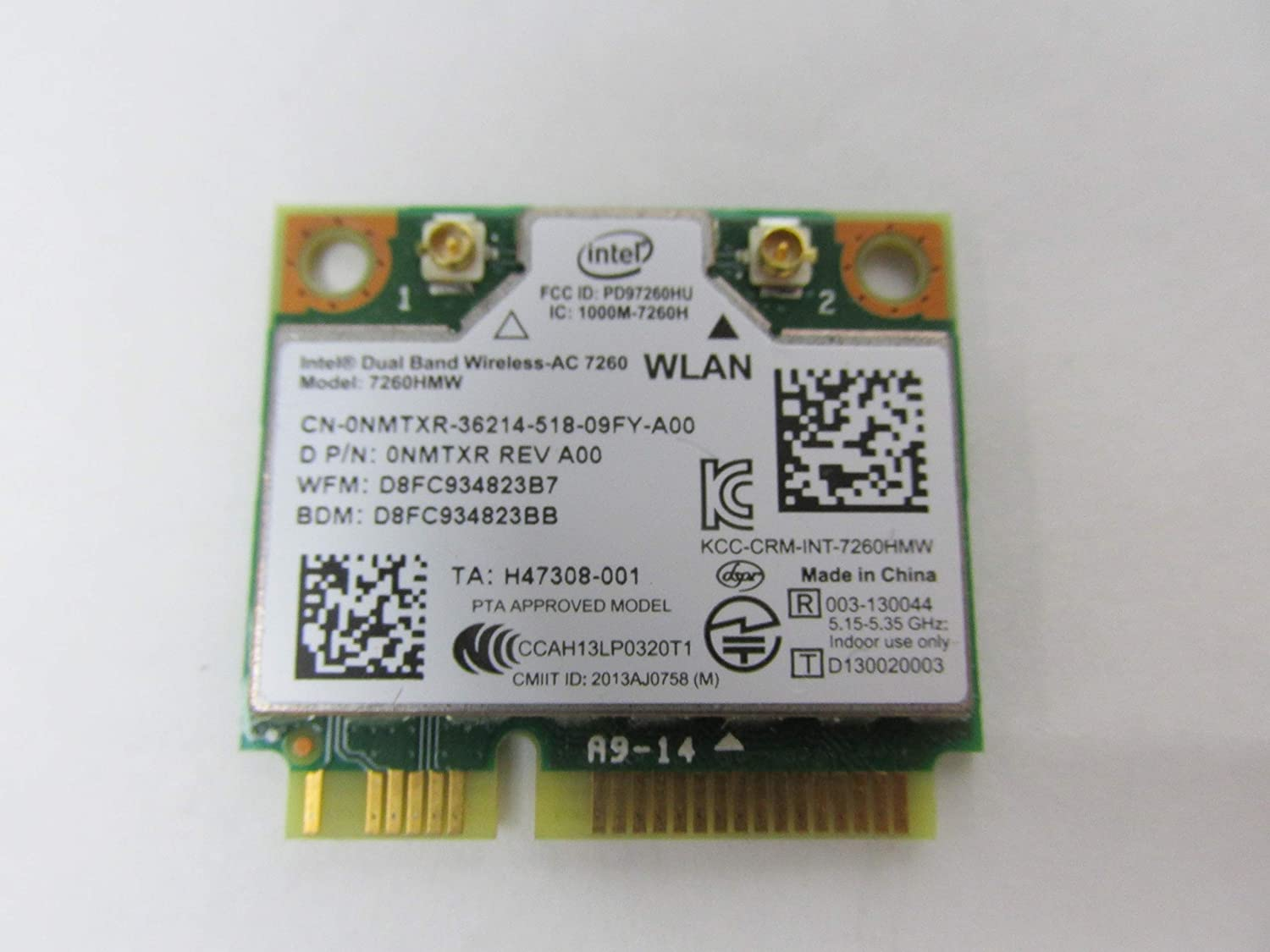 Intel Dual Band Wireless Ac 7260 Wlan Wifi 7260hmw Mini-pci Express Card Nmtxr