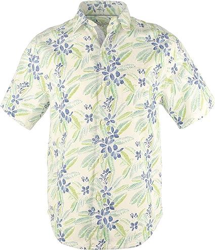 Tommy Bahama Florence Flora - Camisa de manga corta con botones de mezcla de seda para hombre - Multicolor - Small: Amazon.es: Ropa y accesorios