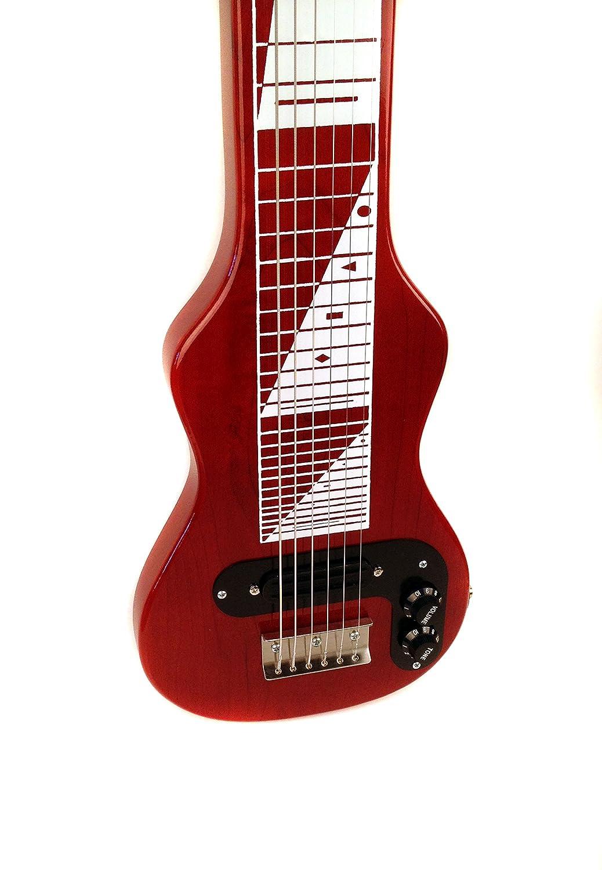 Joe Morrell Pro Series Poplar Body 6-String Lap Steel Transparent Red USA
