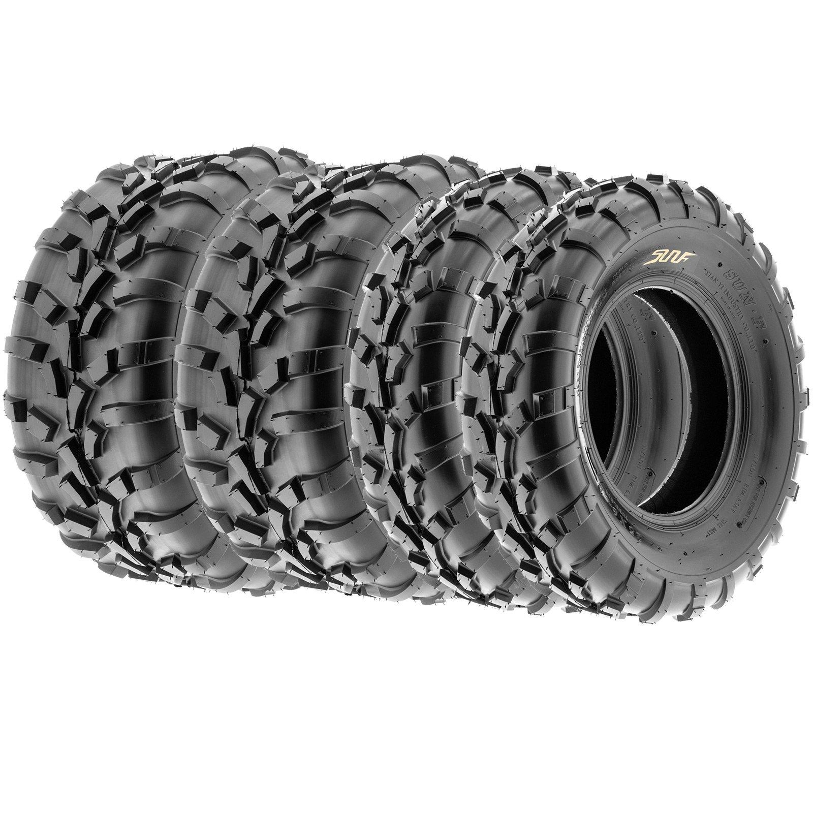 SunF Sport A/T UTV ATV Tires 25x8-12 & 25x11-12 6 PR A010 (Full set of 4) by SunF