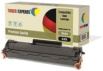 TONER EXPERTE® Compatible CB436A 36A Cartucho de Tóner Láser para ...