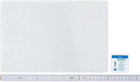 Toppa di riparazione per teloni da semirimorchi disponibile in molti colori AUTOADESIVA 30 cm x 20 cm