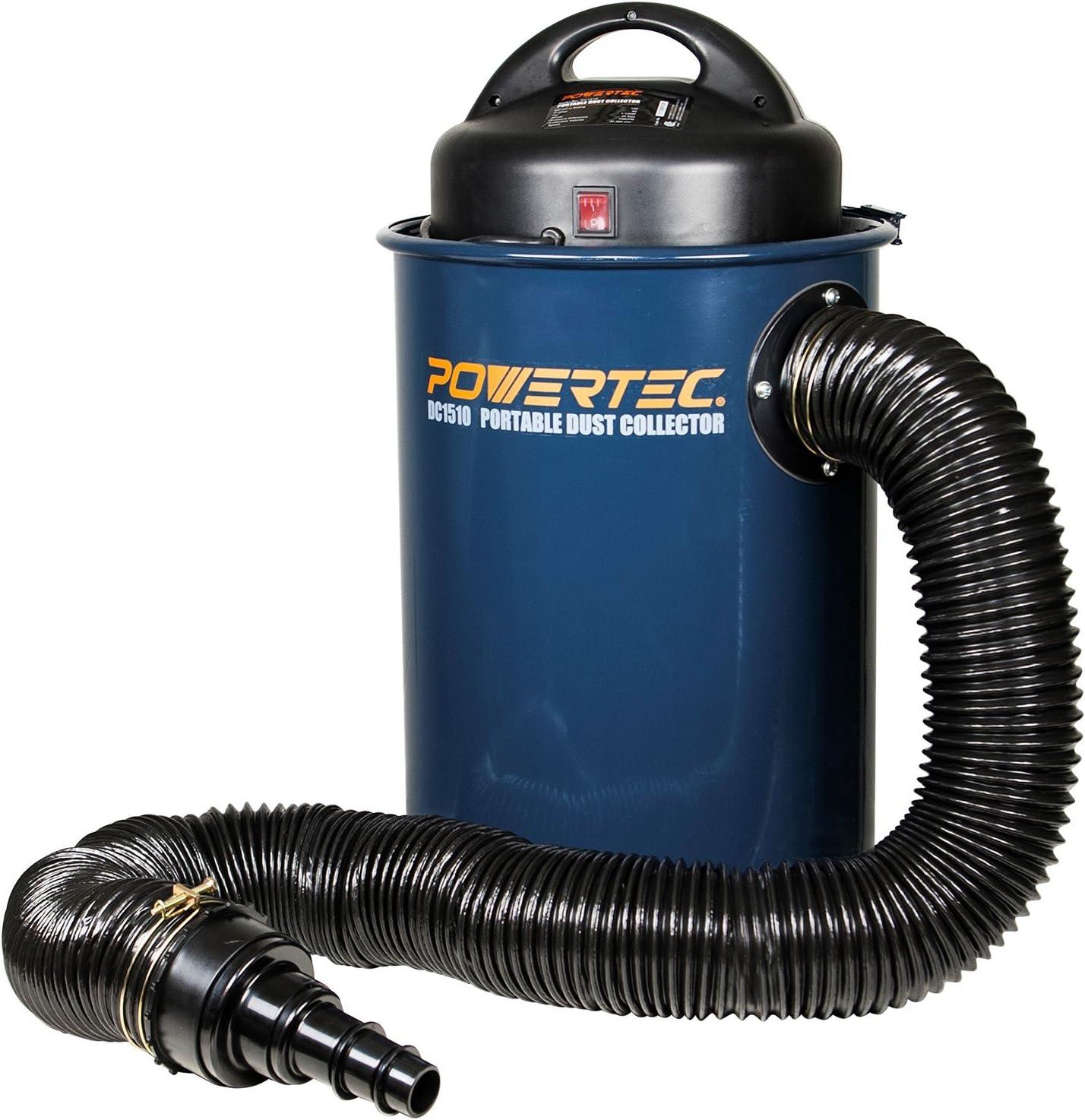 POWERTEC DC1510 1.5-HP Portable Dust Collector Vacuum w/ 13 Gallon Capacity