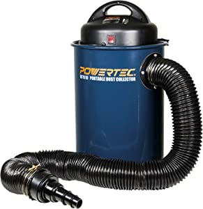 POWERTEC DC1510 1.5-HP Portable Dust Collector Vacuum w/ 13 Gallon Capacity