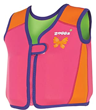 Zoggs Chaleco Flotador de natación ntilde;as, diseño de Sirena y Flores, niña