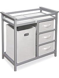 badger basket modern changing table gray
