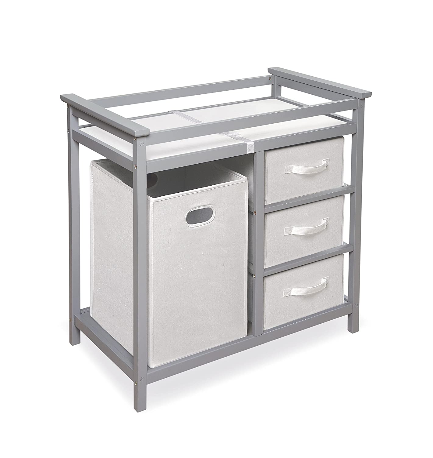 amazoncom  badger basket modern changing table gray  baby -