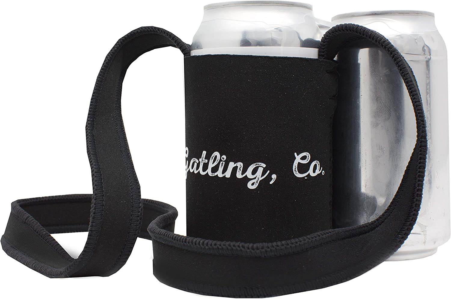 GATLING, CO. 4-Pack Hands-Free Insulated Drink Coolie, Can Cooler with Adjustable Neck Strap