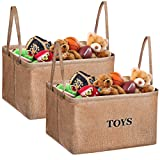 Amazon Price History for:Storage Bins, MaidMAX XL Flax Kids Collapsible Storage Basket Organizer for Clothing, Children Books, Gifts or Laundry, Brown, Set of 2