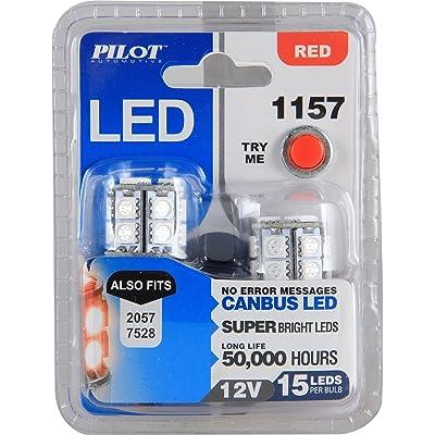 Pilot Automotive (IL-1157R-15-AM) Red 15-SMD LED Turn/Tail Light Bulb - 2 Piece: Automotive
