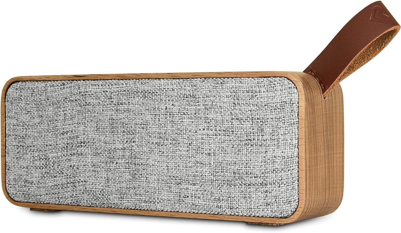 Energy Sistem Speaker Eco Beech Wood ( Altavoz portátil elaborado con cuerpo de madera y tela orgánica que respeta el medio ambiente, Bluetooth 5.0, TWS, 6 W, USB MP3, FM Radio) Madera de Haya.
