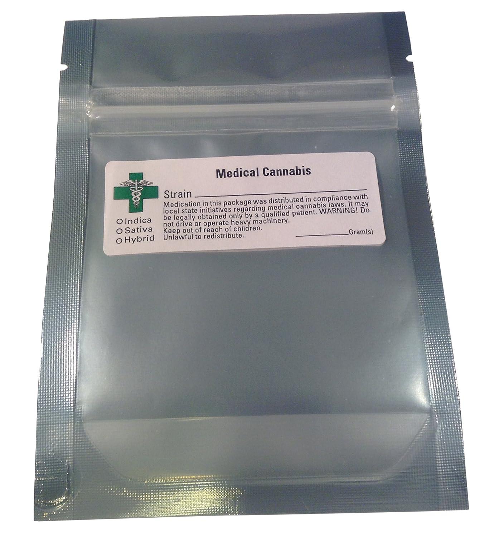 Amazoncom 100 Smell Proof Bags W Green Cross Label Marijuana