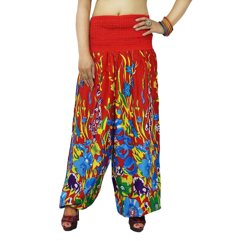 Blumenharemshosen Boho Zigeuner Hippie Bohemian Hosen-elastische Taillen-Hose