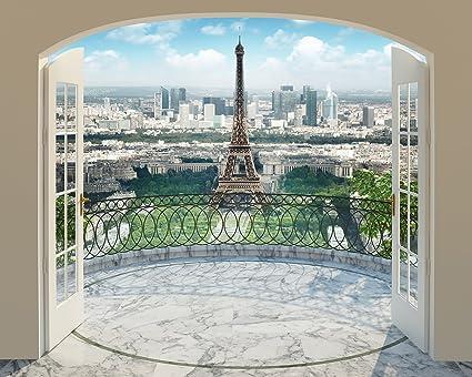 Amazoncom Walltastic WT43589 Eiffel Tower in Paris Wall Mural