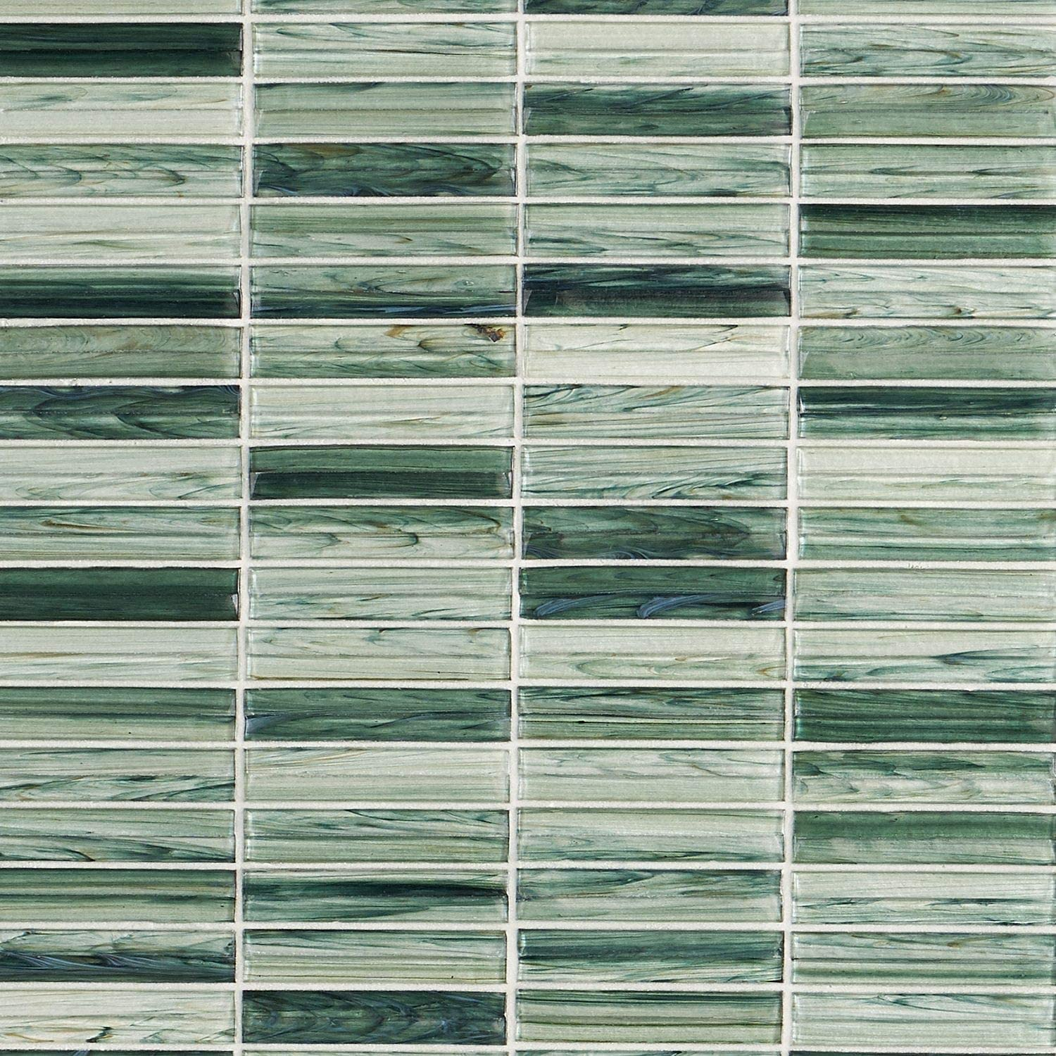Tara Green 11 61 In X 11 73 In Stacked Glass Mosaic Tile 0 95 Sq Ft Sheet Amazon Com
