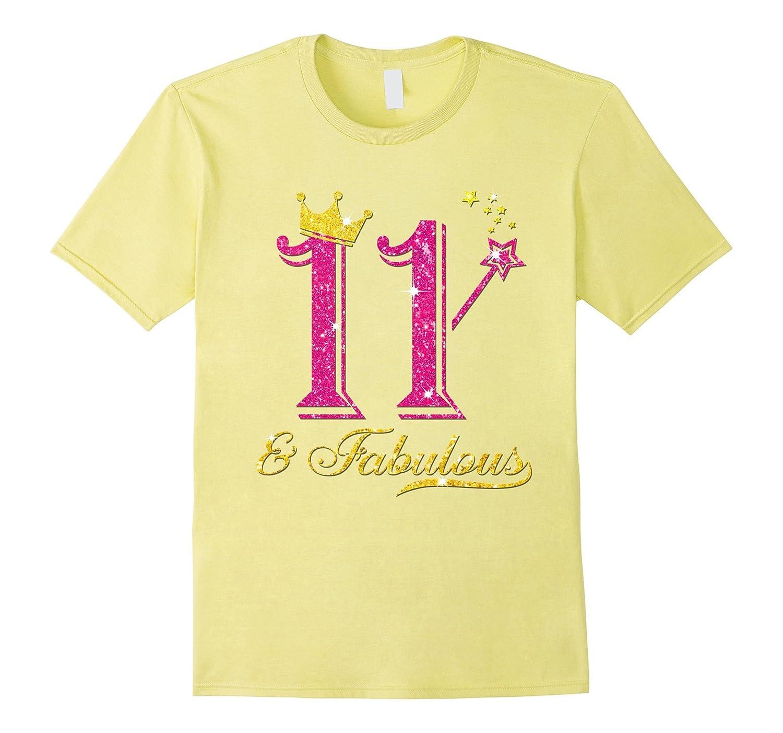 11th Birthday Girl Fabulous Princess Shirt-PL