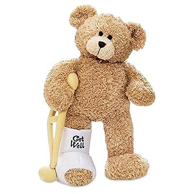 GUND Break a Leg Jr., Broken Leg Bear Get Well Soon Teddy Bear with a Cast, Crutch and Signature Cast 8.5 inches: Toys & Games