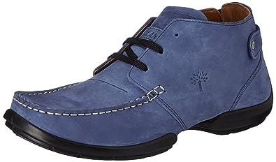 Woodland Men's Navy Leather Boat Shoes - 7 UK/India (41 ...