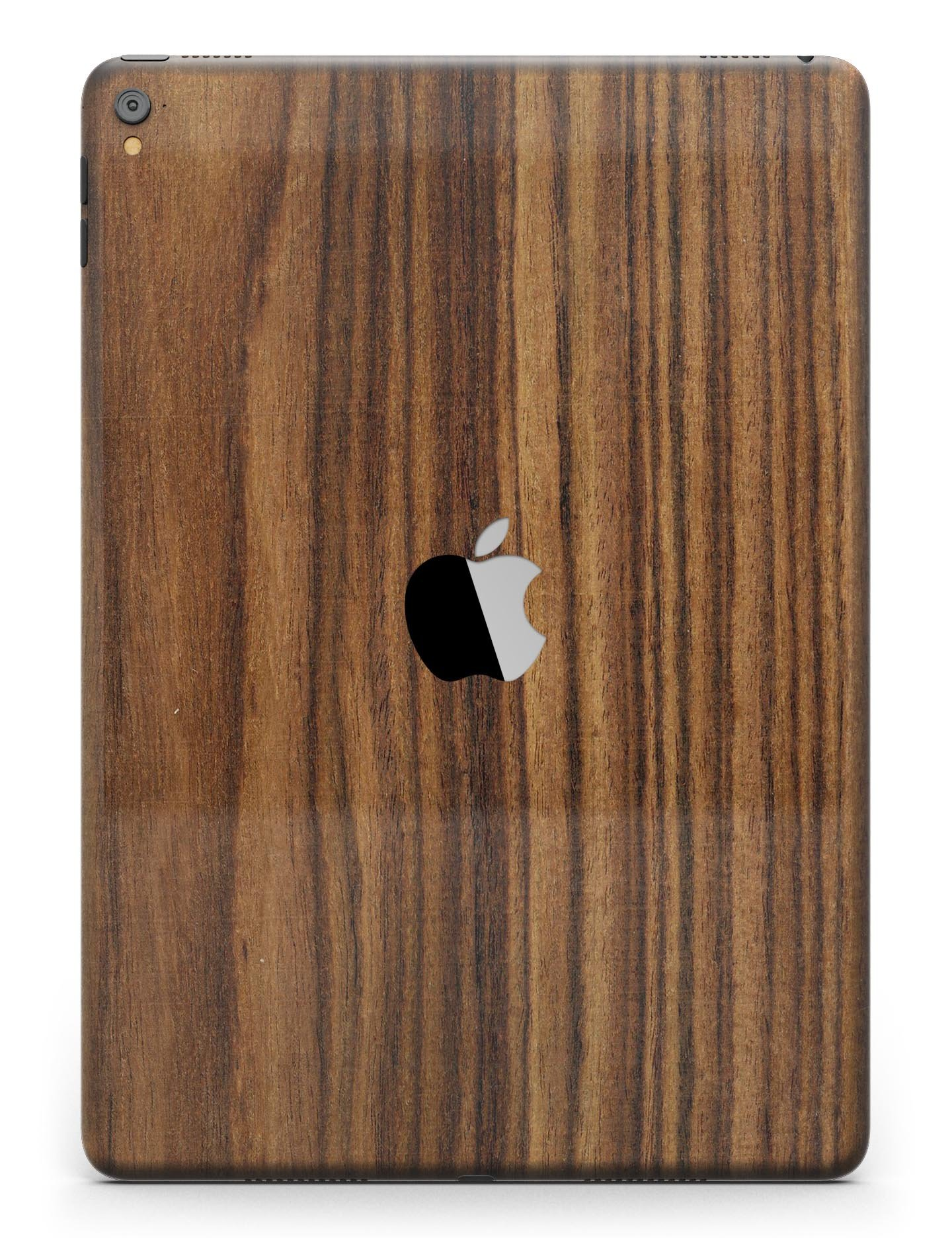 Wood Pattern Design Skinz Premium Full-Body Cover Wrap Decal Skin Kit for the Apple iPad 9.7-Inch 6th generation (A1893/A1954)- Bright Ebony Woodgrain