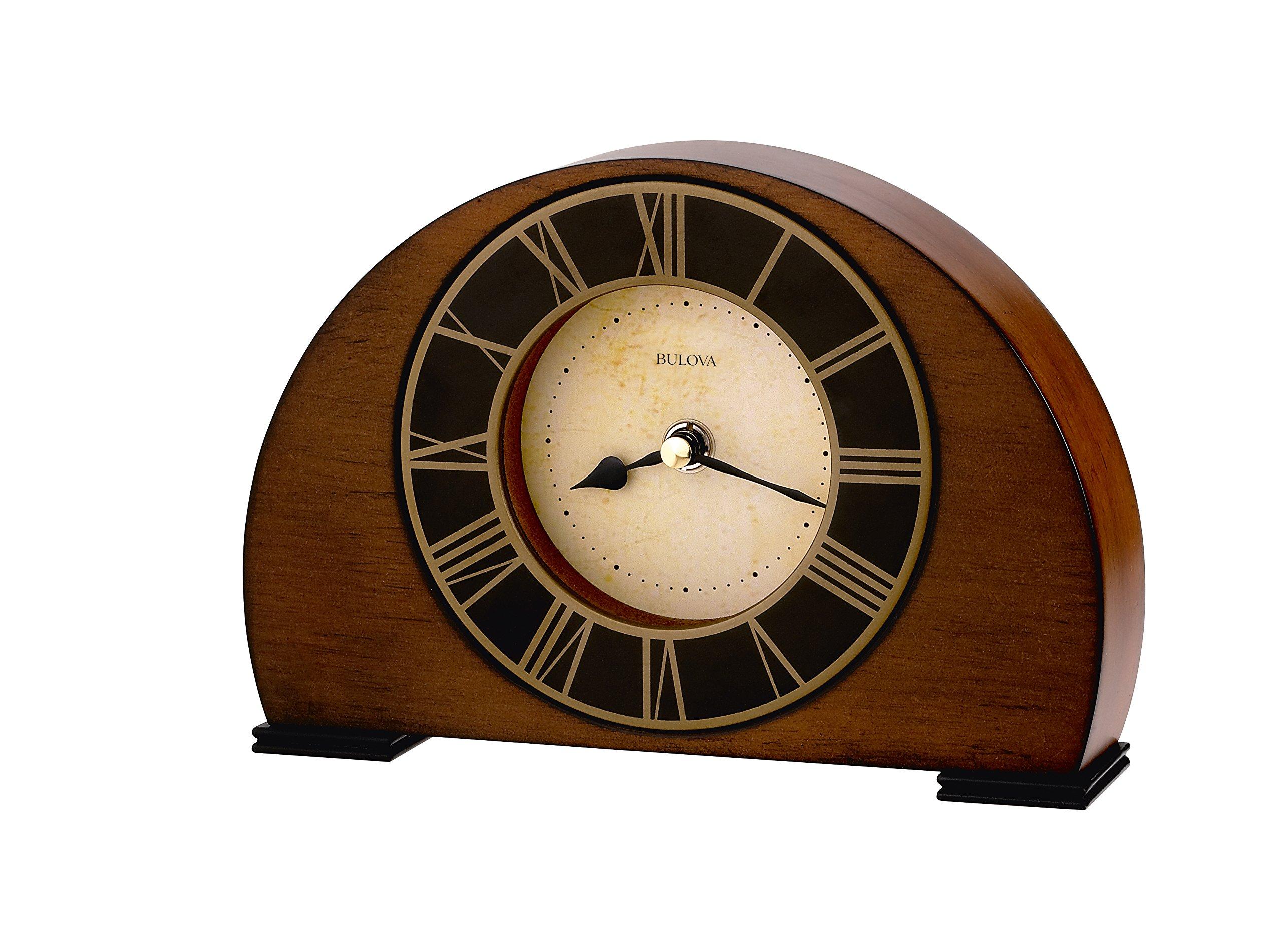 Bulova B7340 Tremont Clock, Walnut Finish by Bulova